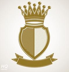 Heraldic royal blazon - imperial striped vector