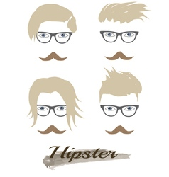 hipster hairstyle vector image