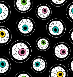 Human eyeball hand drawn stitch patch pattern vector image vector image