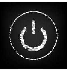 Icon with chalk effect vector