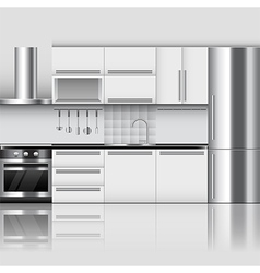 Modern kitchen interior background vector