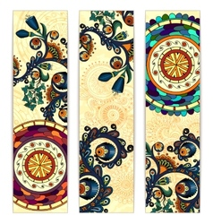 Paisley ethnic batik backgrounds vector