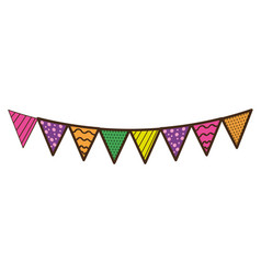 party flags to decoration happy birthday vector image vector image