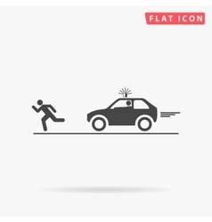 police simple flat icon vector image