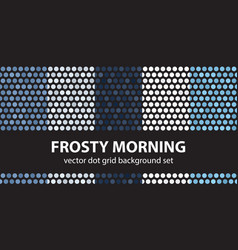 polka dot pattern set frosty morning seamless vector image