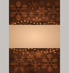 poster merry christmas and happy new year wood vector image vector image
