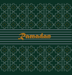 Ramadan kareem with calligraphy on vector