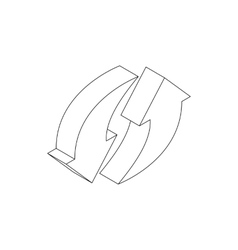 Refresh arrow icon isometric 3d style vector