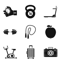 report icons set simple style vector image