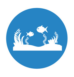seafloor scene isolated icon vector image