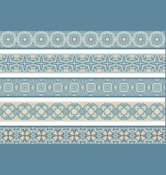 seamless decorative borders vector image vector image