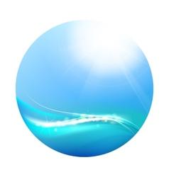 Shining blue vector image vector image