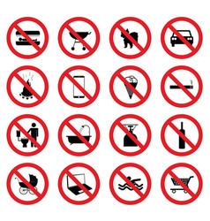 Sign icon set vector