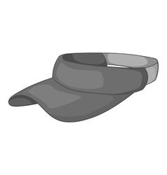 Sun cap icon gray monochrome style vector