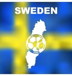 Swedish abstract map vector