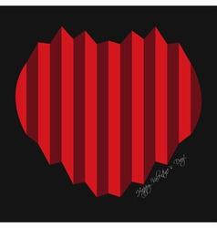 Valentines greeting card - harmonica hearts vector