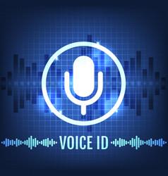 Voice id tech icon and futuristic background vector