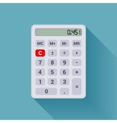 White calculator vector