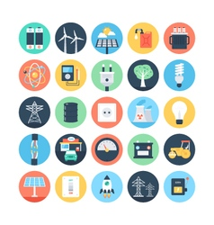 Energy and Power Colored Icons 1 vector image