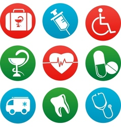 background with medicine icons and elements vector image