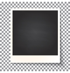 Old empty realistic photo frame vector