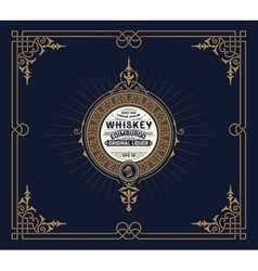 Whiskey card with vintage frame vector