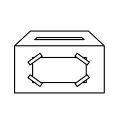 Ballot box carton isolated icon vector