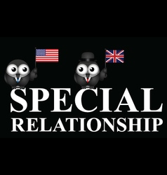 USA UK special relationship vector image