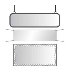 Gray metal signs vector