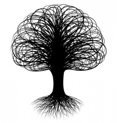 Swirly tree vector