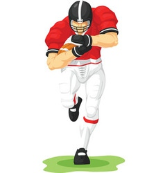 Football player holding ball vector