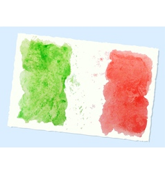 Watercolor flag of italy vector