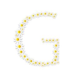 Flora daisy design alphabet vector