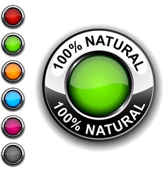100 natural button vector