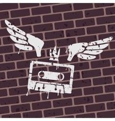 Symbol graffiti cassette vector