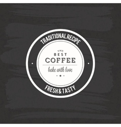 Special coffee label vector