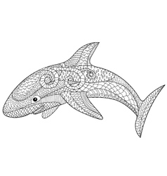 Happy shark with high details vector
