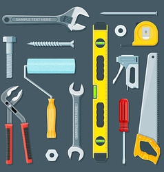 Remodel construction tools set vector