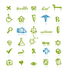 Medical icons for your design vector image