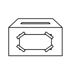 Ballot box carton isolated icon vector