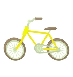 Bicycle icon cartoon style vector