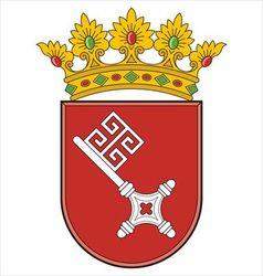 Bremen coat of arms vector