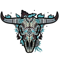 Buffalo skull cool vector