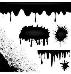 Dark Ink Splatters vector image