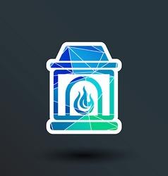 fireplace icon button logo symbol concept vector image vector image