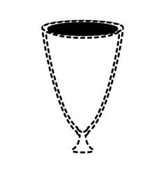 Glass sticker vector