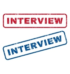 Interview rubber stamps vector