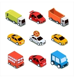 Isometric City Transport Set vector image