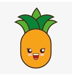 Kawaii cartoon healthy food design vector