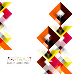 modern square geometric pattern design on white vector image vector image